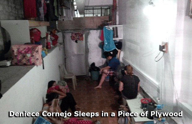Deniece Cornejo Sleeps in a Piece of Plywood