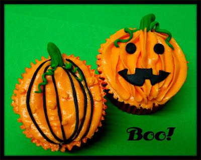 Cupcakes calabaza halloween