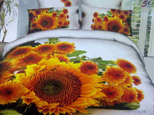 Sprei Katun Jepang Motif Bunga Matahari