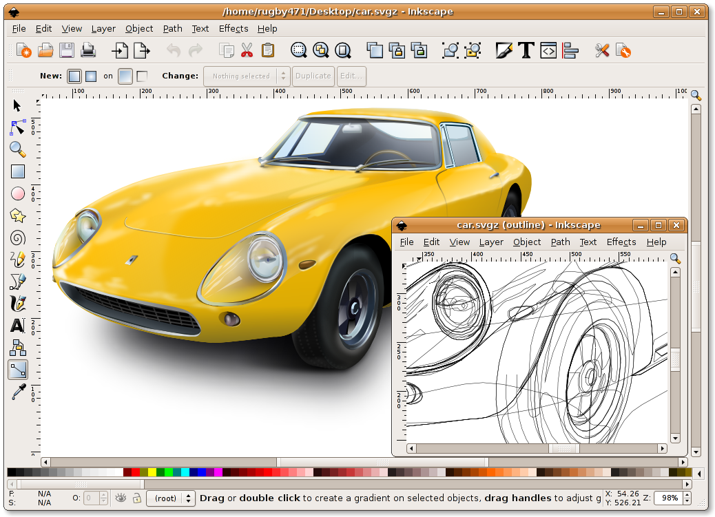Inkscape โปรแกรมแต่งรูป