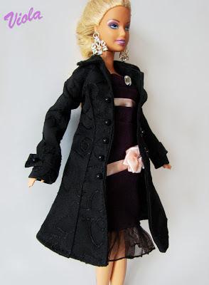 płaszczyk dla lalki barbie