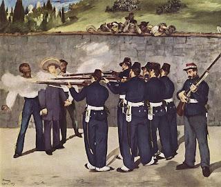 Fusilamiento de Maximiliano I pintura de Edouard Manet Francés.