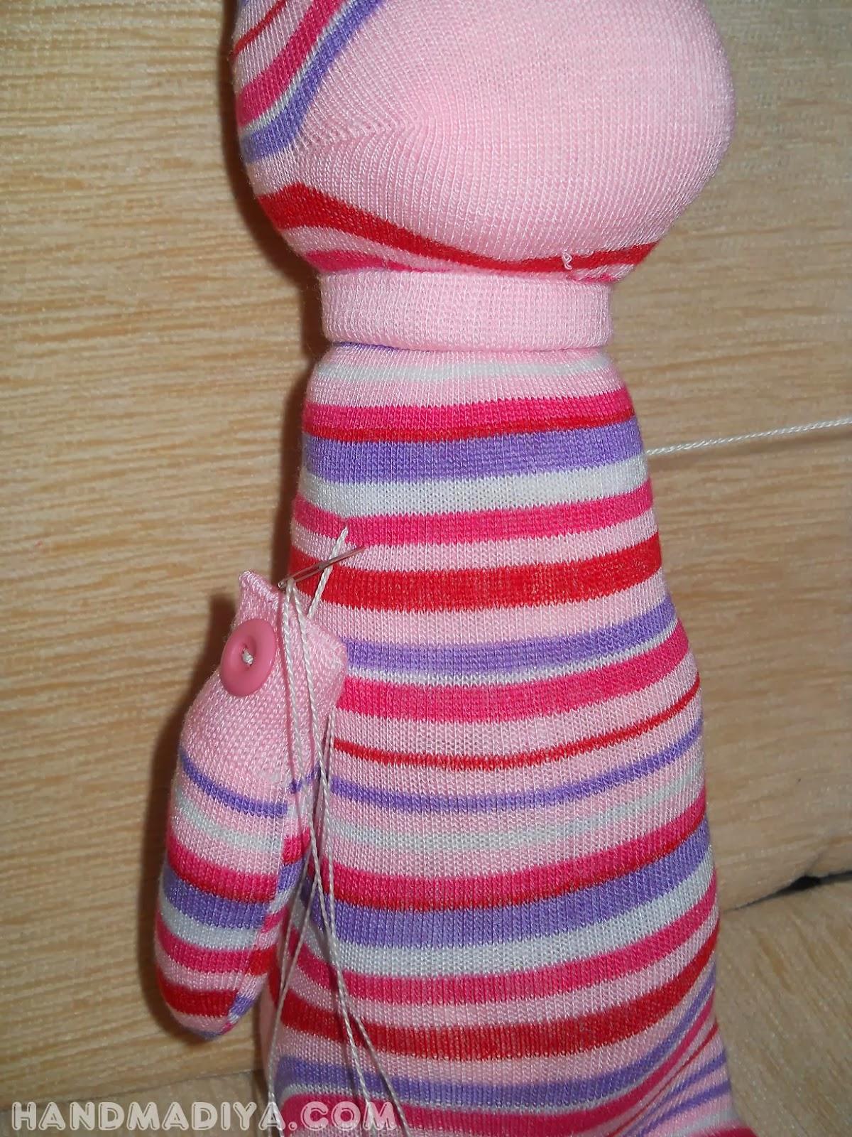 Мягкая игрушка Зайчик из носков. Мастер класс. Soft toy bunny