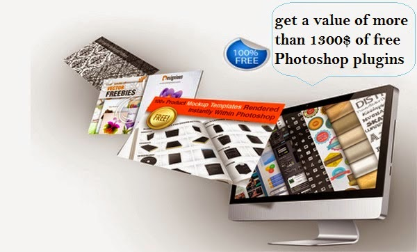 get a value of more than 1300$ of free Photoshop plugins