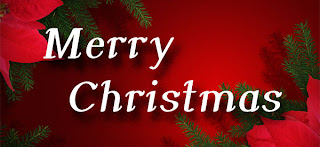 Merry Christmas letters in the background photo of Christmas tree leaves