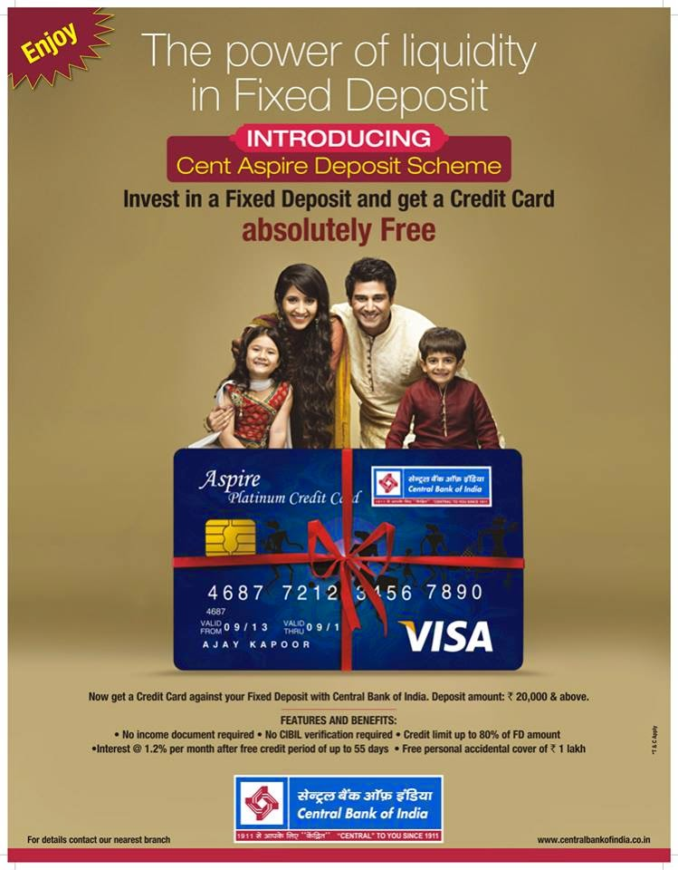 Central bank of india blog cent aspire the power of liquidity cent aspire credit card publicscrutiny Image collections