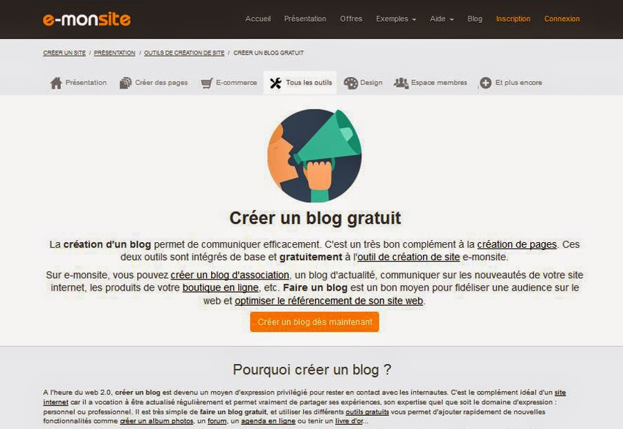 Créer un blog gratuit sans compétences informatiques avec e-monsite.