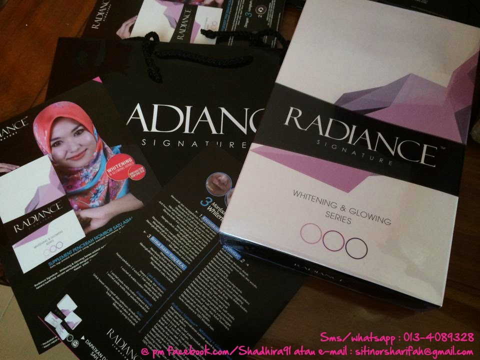 Beauty Product Radiance Signature Whitening Glowing Series
