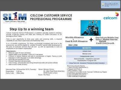 Peluang Kerjaya Bersama Celcom Axiata
