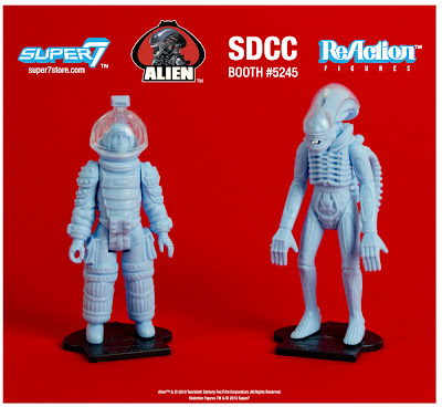 Super 7 ReAction Alien SDCC 2013 Production Sample Set