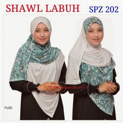Memakai Tudung Shawl Labuh