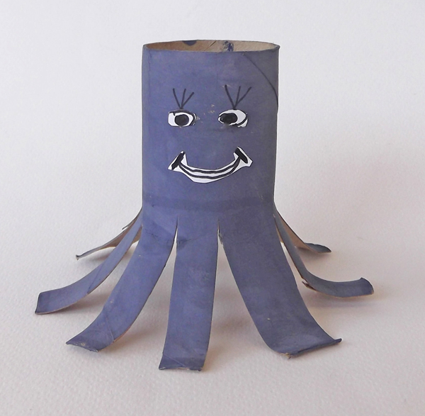octopus, craft, toilet paper tube, toilet paper roll, kids crafts