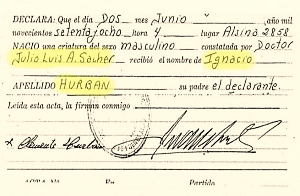Currín: Difunden la falsa partida de nacimiento del nieto de Carlotto