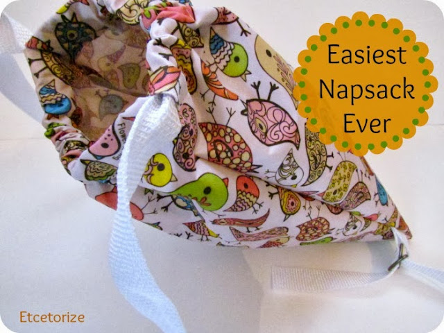 easy sewing project, how to make a backpack, how to make a napsack, DIY Bag