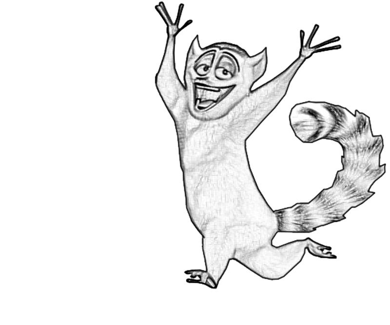 king-julien-run-coloring-pages
