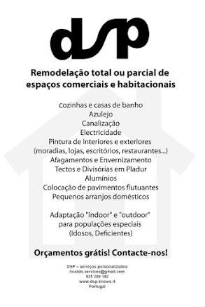 DSP - serviço de obras e remodelações