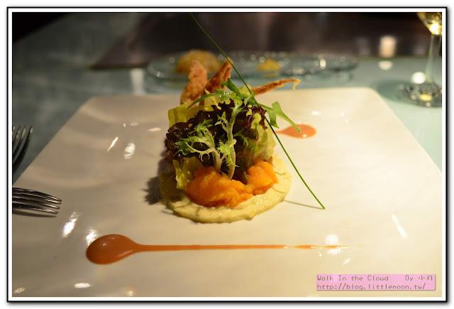 夏慕尼新香榭鐵板燒 - 軟殼蟹生菜沙拉