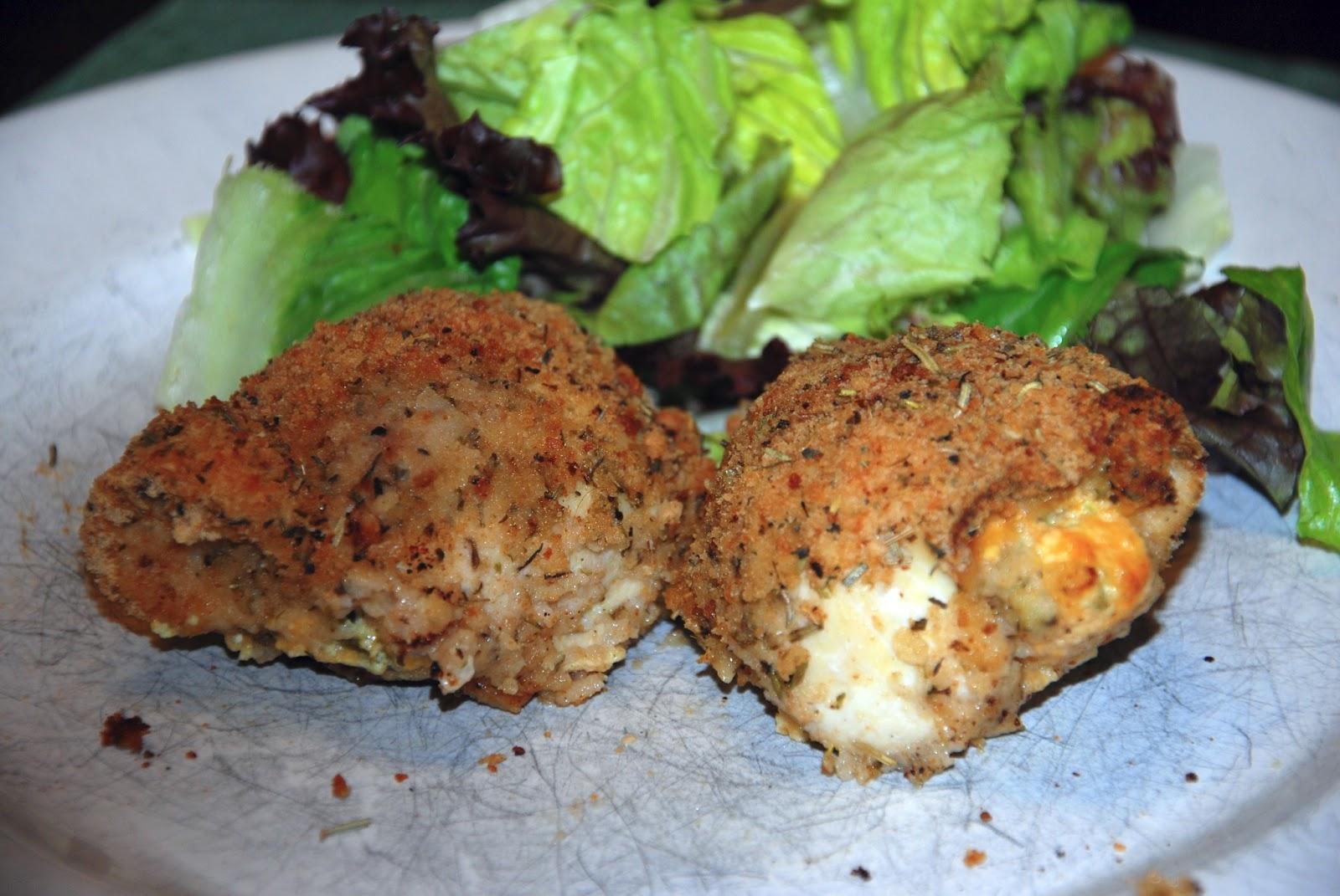 Cheesy Jalapeno Popper Baked Stuffed Chicken