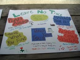 Mililani cub scout den 2 and 5 leave no trace poster