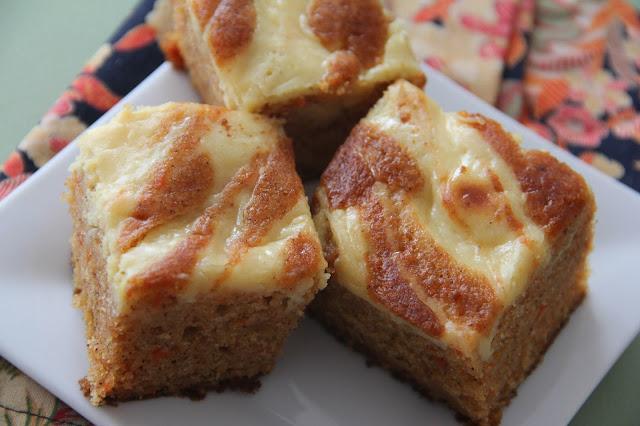 mango carrot cake swirl bars