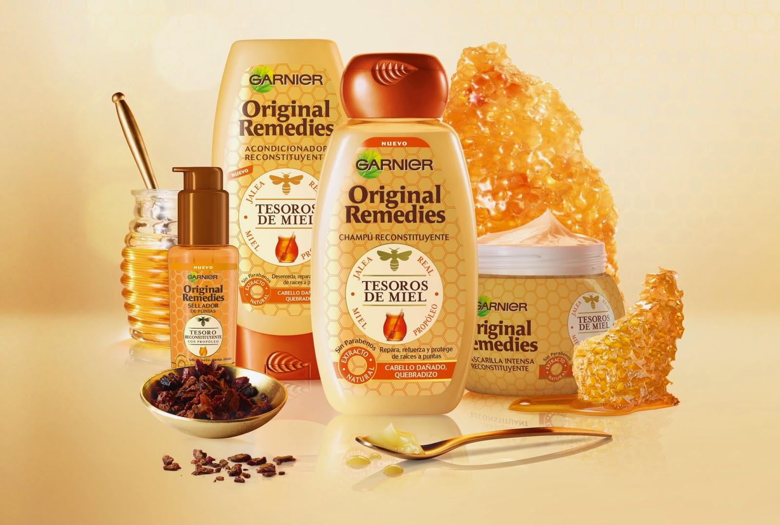 original remedies, garnier, tesoros de miel