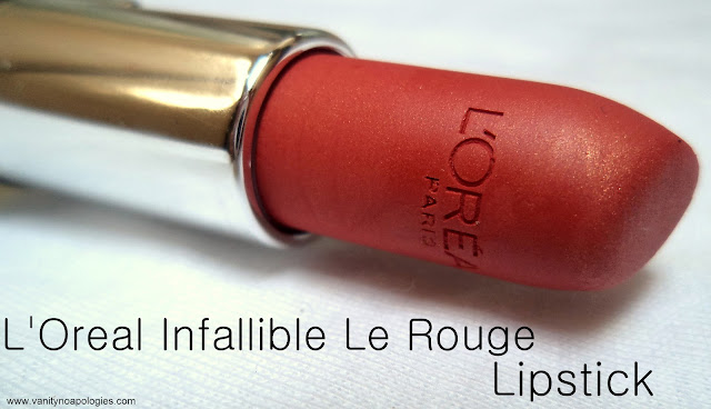 L'Oreal Infallible Le Rouge Lipstick in Always Apricot Review