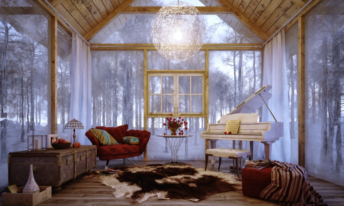 Winter Decorations Interior Design Living Room Picture 02