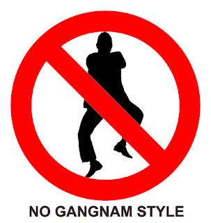 no gangnam style psy signage