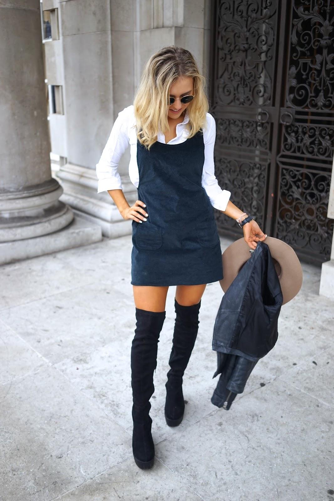 Kleid mit Overknees Retro