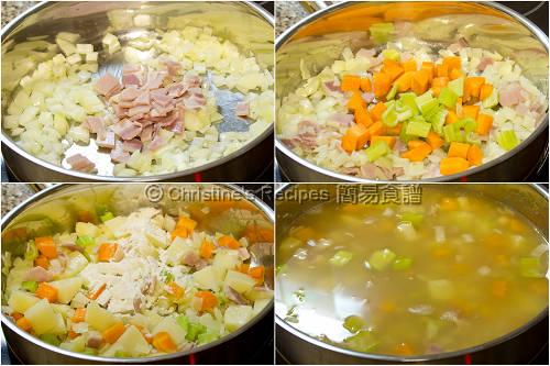 忌廉雜菜魚湯製作圖 How To Make Creamy Fish Vegetable Soup