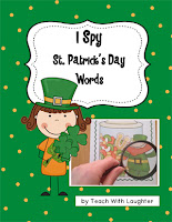 I Spy St. Patrick's Day Words by Teach With Laughter