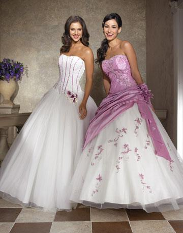 Wedding By Designs Purple And White Excellent Gown