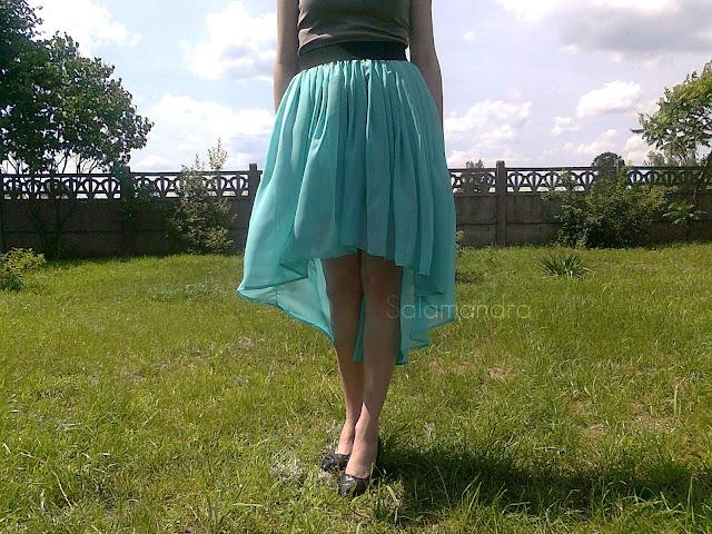 miętowa spódnica