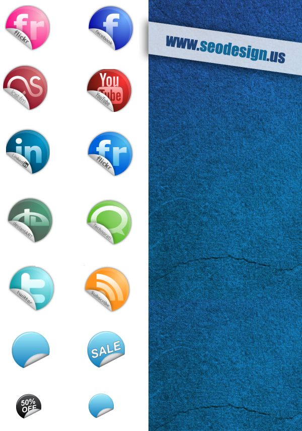 38 Social Media Stickers Icons