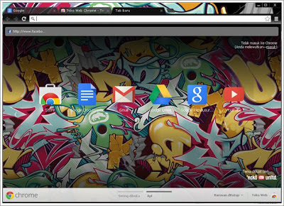 Tema Graffiti untuk Chrome