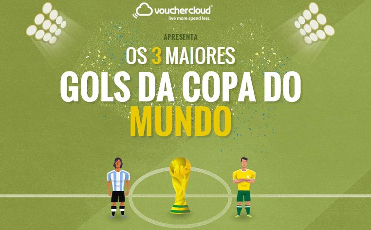 """Promoção Vouchercloud - """"Os 3 maiores gol da Copa do Mundo"""""""