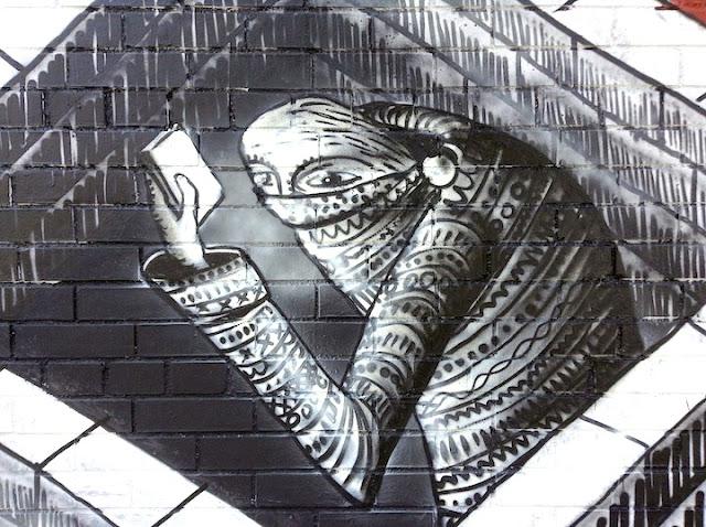 Street Art By British Artist Phlegm In New York City, USA. 2