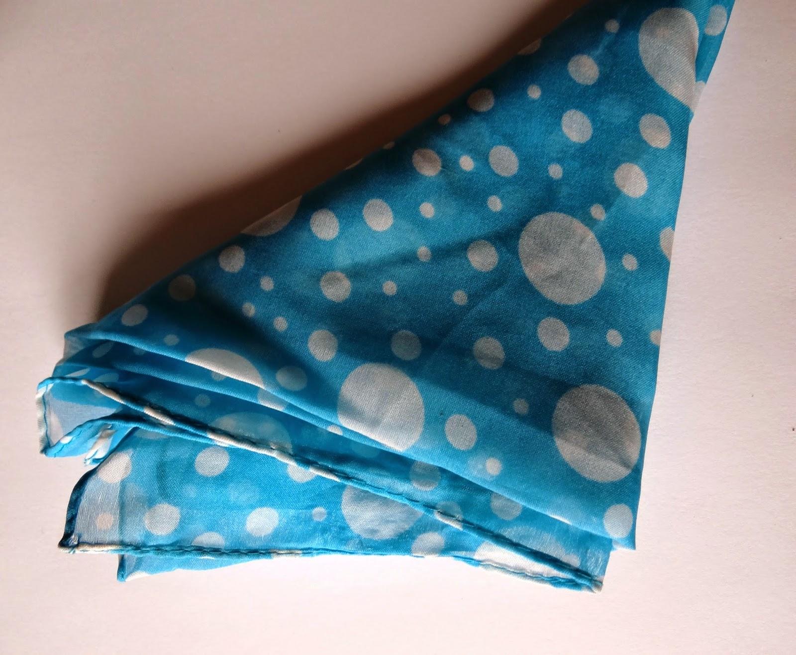 turquoise polkadot accessory accessoire scarf sjaaltje