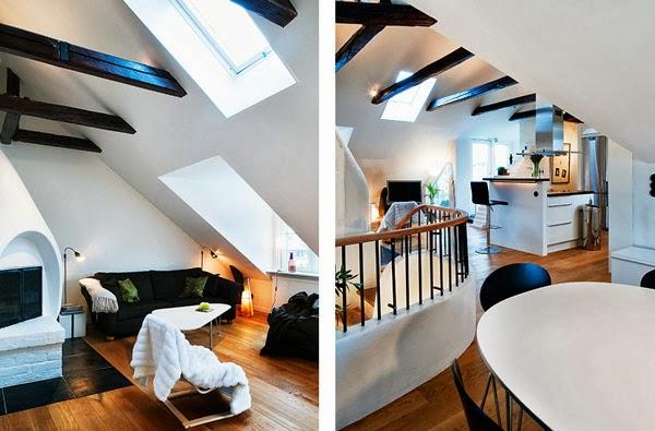 Mieszkanie dwupoziomowe - belki stropowe