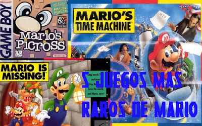 los 5 juegos mas raros de Mario. El #4 lo jugaste