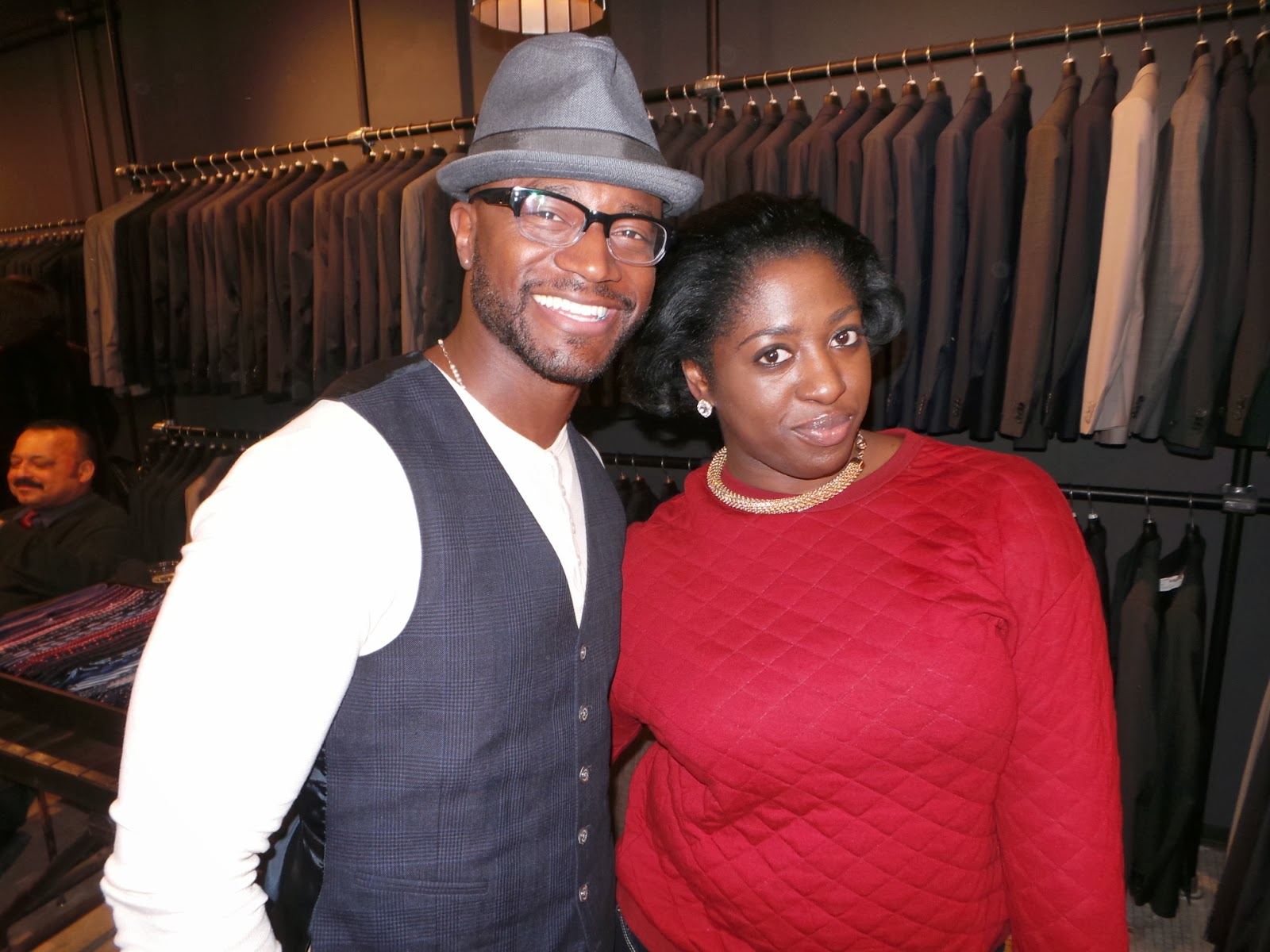 Taye Diggs at Bosideng Pop-Up Shop Launch Event at Rothman'