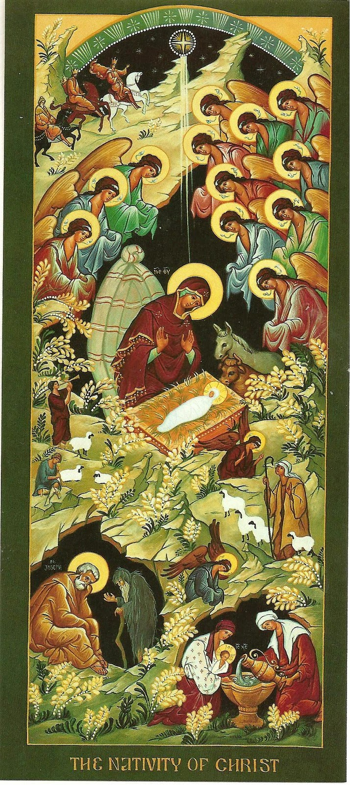 The Nativity of the Christ dans immagini sacre