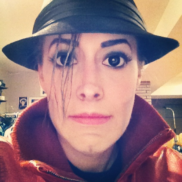 Carly Paige made up as Michael Jackson