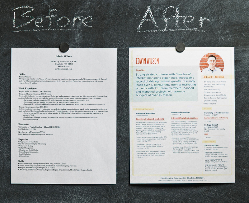 Resume Makeover Ideas