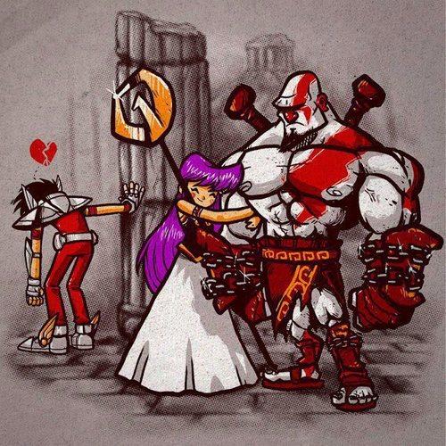 Kratos le ha robado Atenea a Seiya