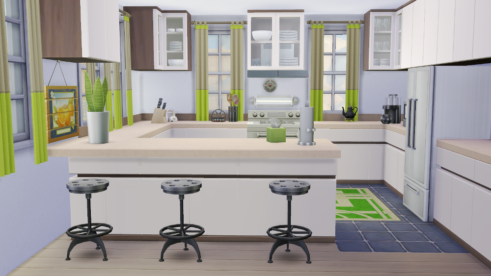 my sims 4 blog leafy green kitchen and dining room by. Black Bedroom Furniture Sets. Home Design Ideas