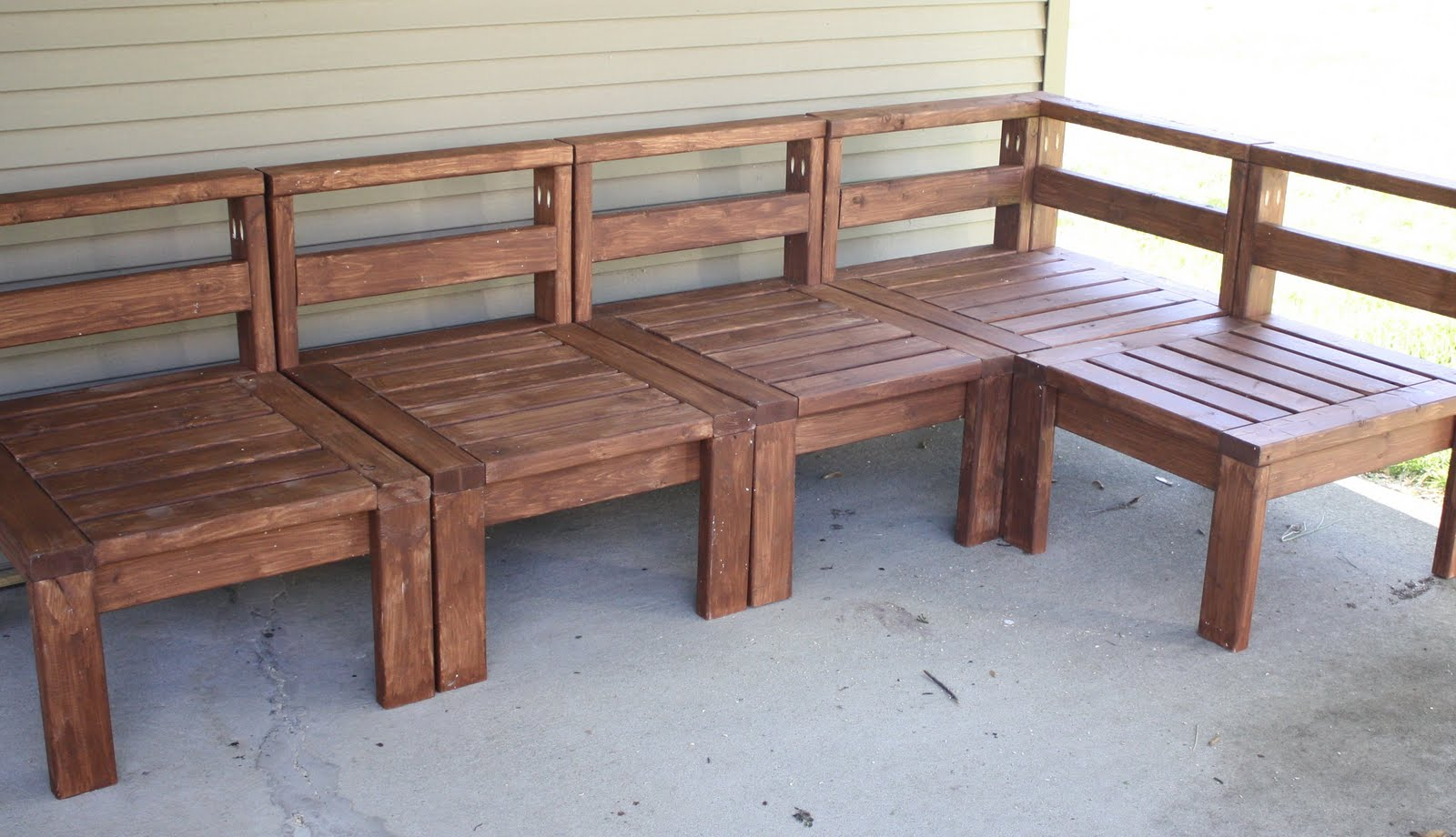 More like home 2x4 outdoor sectional for Outdoor sofa plans