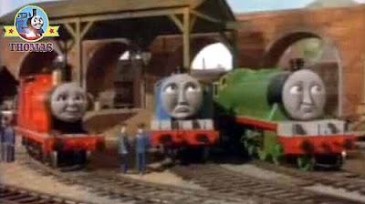 Pop Goes the Diesel Thomas and his friends Gordon the express James the red engine Henry the green