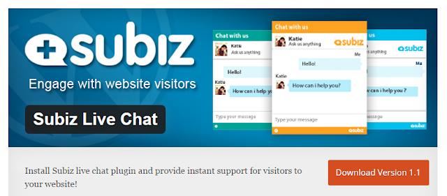 Aktivasi Subiz Live chat