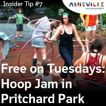 Asheville Insider Tip: Asheville Hoops is free family fun on Tuesday nights.